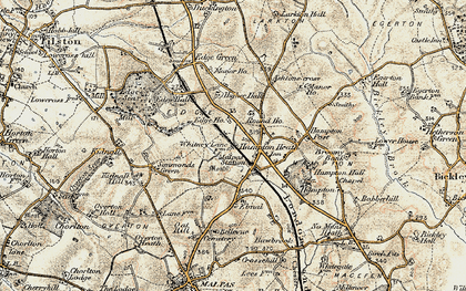Old map of Ashtons-cross in 1902