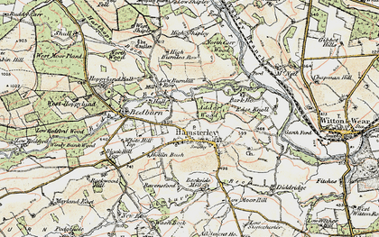 Old map of Linburn Beck in 1903-1904