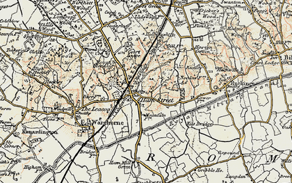 Old map of Hamstreet in 1898