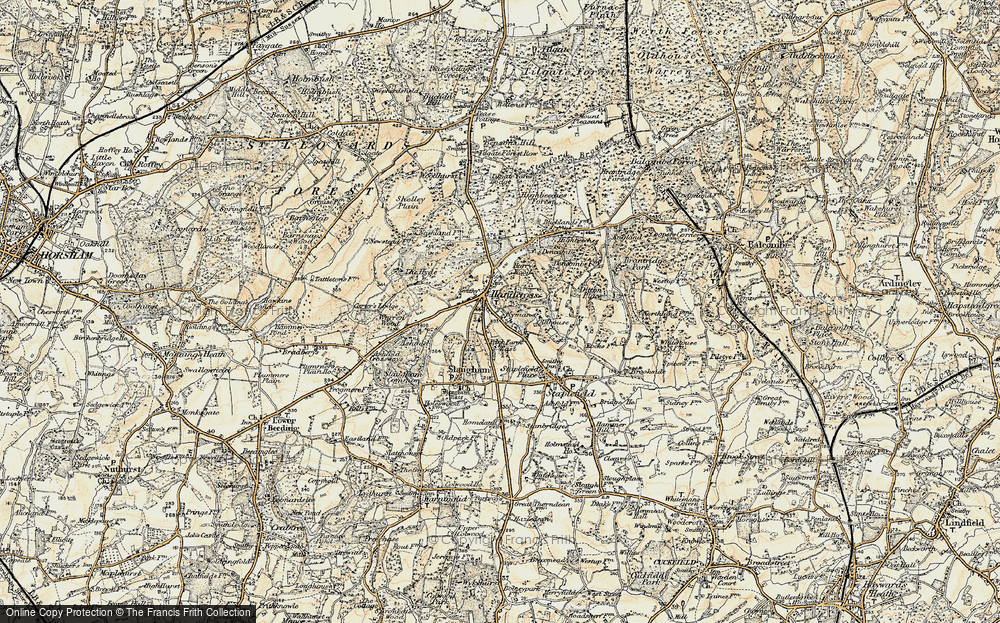 Old Map of Handcross, 1898 in 1898