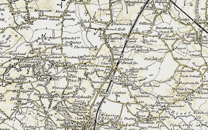 Old map of Handforth in 1902-1903