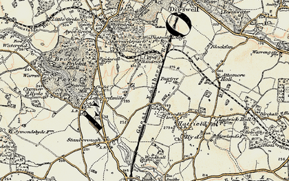 Old map of Handside in 1898