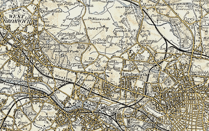 Old map of Handsworth in 1902