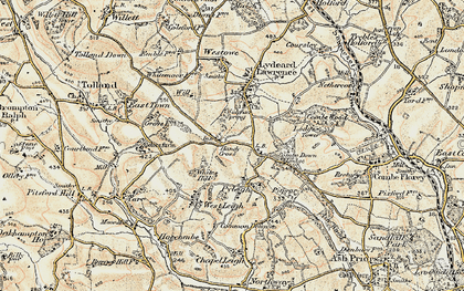 Old map of White Hill in 1898-1900