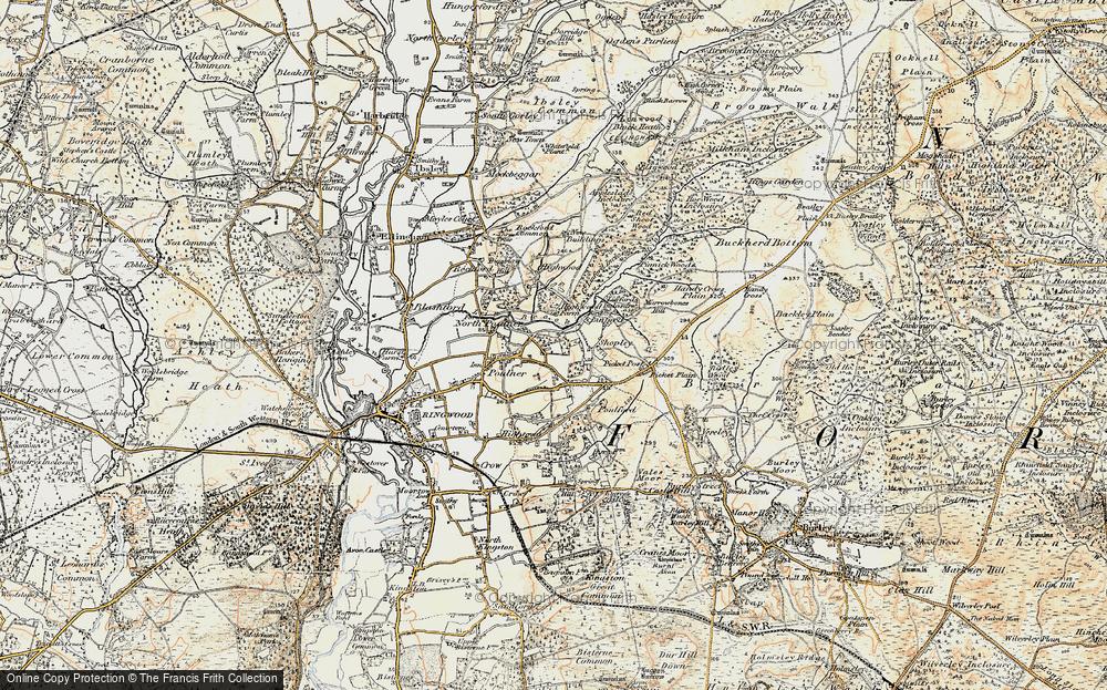 Old Map of Hangersley, 1897-1909 in 1897-1909