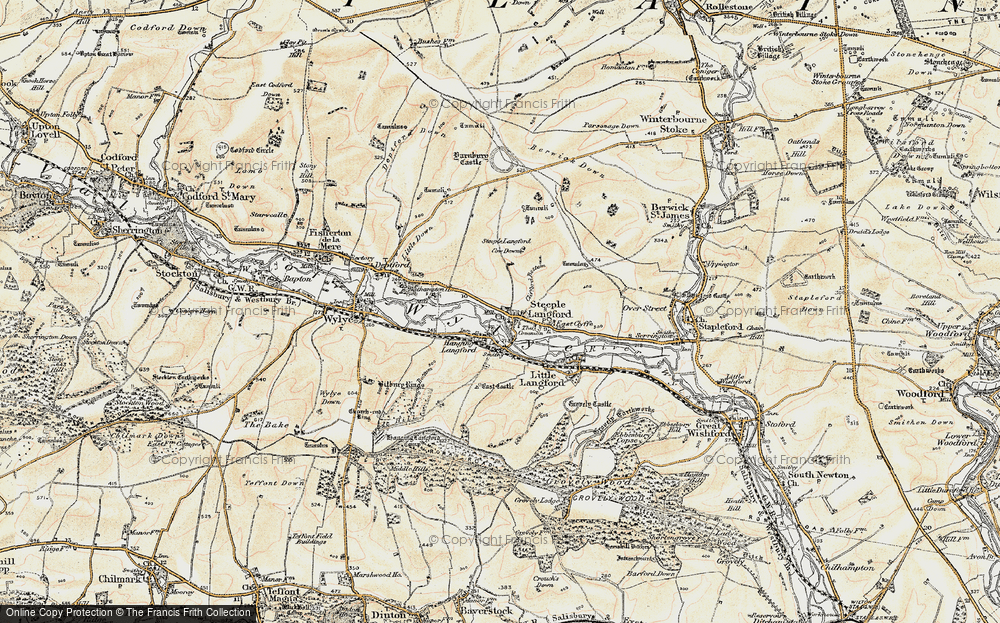 Old Map of Historic Map covering Ballington Manor in 1897-1899