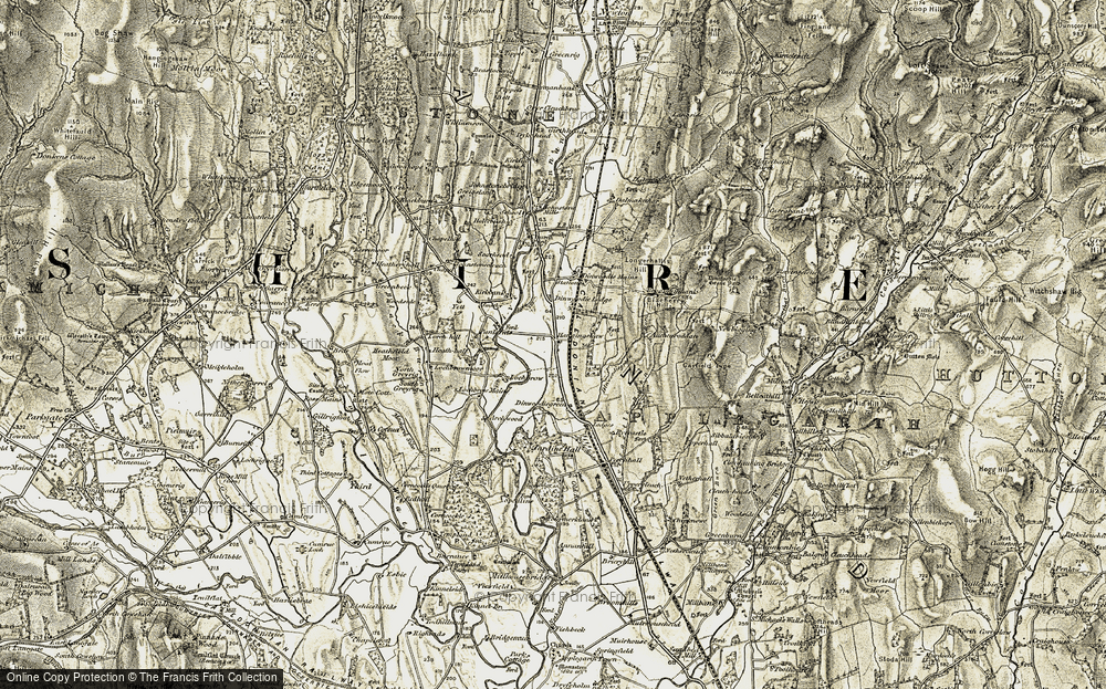 Old Map of Historic Map covering Auchenrodden in 1901-1904