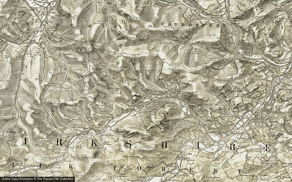 Old Map of Historic Map covering Lewenshope in 1904