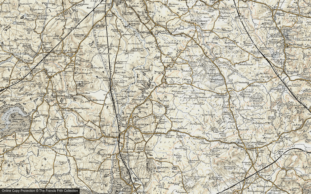 Old Map of Historic Map covering Woolfall in 1902