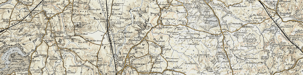 Old map of Woolfall in 1902