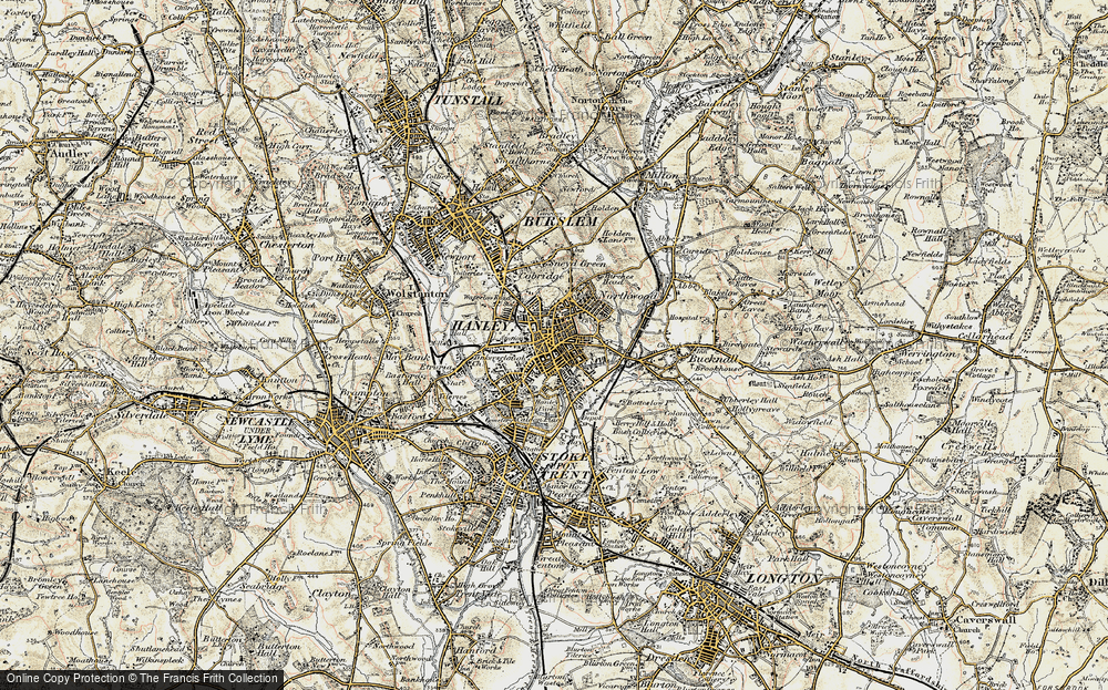 Old Map of Hanley, 1902 in 1902