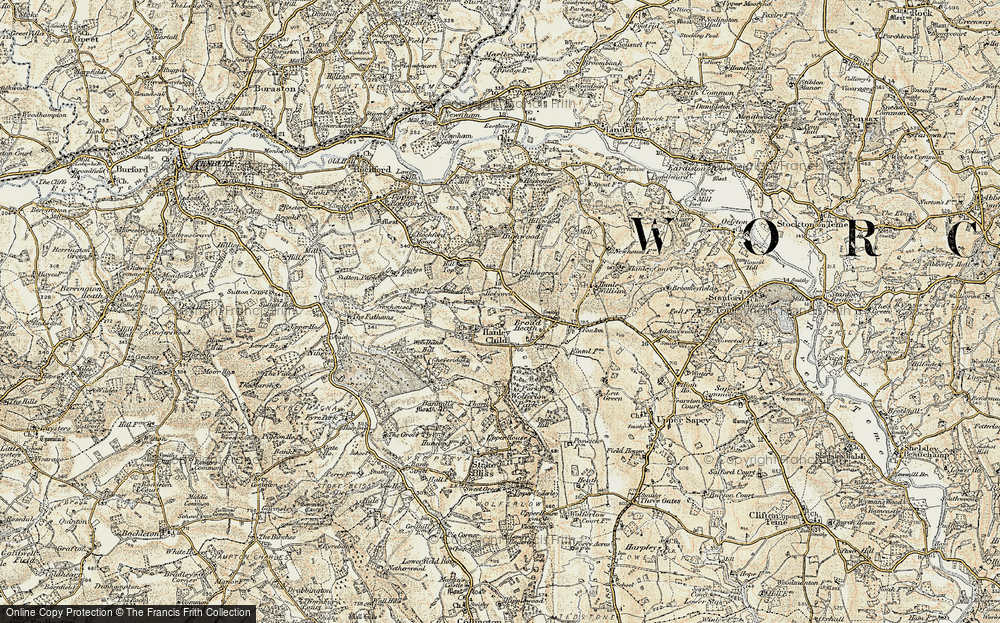 Old Map of Historic Map covering Woodbank Hill in 1899-1902