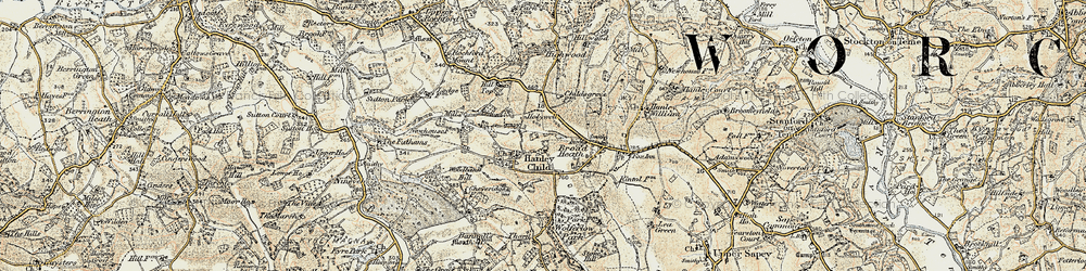 Old map of Woodbank Hill in 1899-1902
