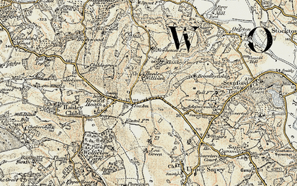 Old map of Lea Green in 1899-1902