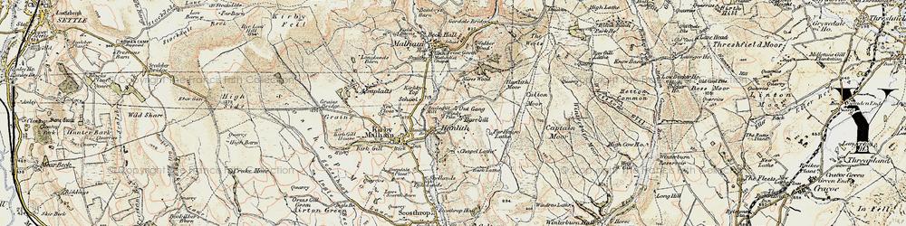 Old map of Winterburn Moor in 1903-1904