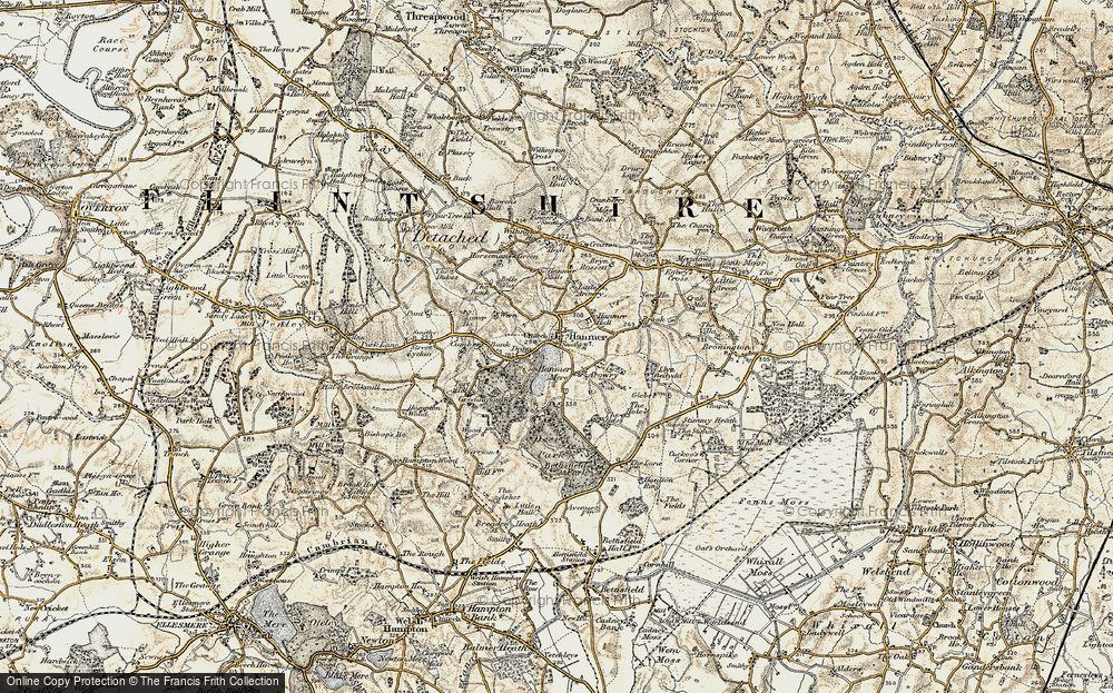 Old Map of Hanmer, 1902 in 1902