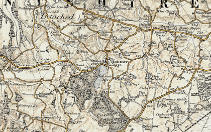 Old map of Hanmer in 1902
