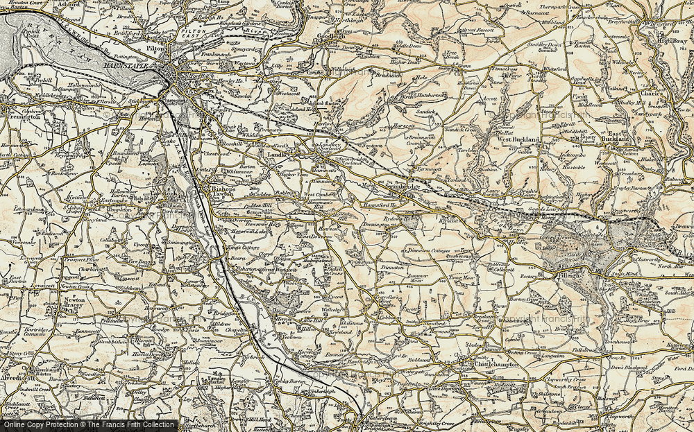 Old Map of Historic Map covering Bableigh in 1900