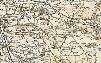 Old map of Wrimstone in 1900