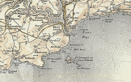 Old map of Hannafore in 1900