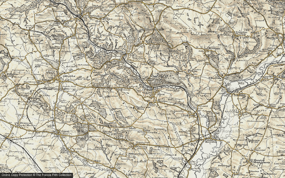 Old Map of Historic Map covering Alton Common in 1902