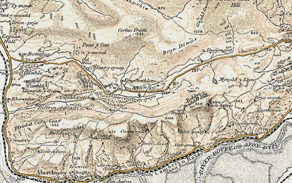Old map of Allt Gwyddgwion in 1902-1903