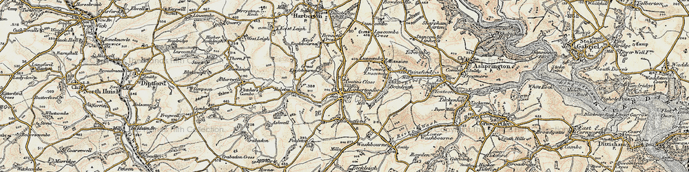 Old map of Woodcourt in 1899
