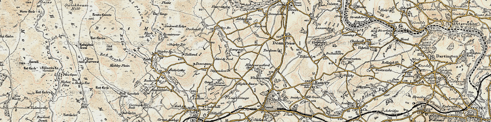 Old map of White-oxen Manor in 1899