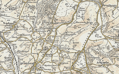 Old map of Whiteway Ho in 1899-1900