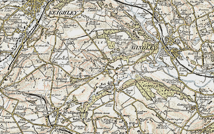Old map of Harden in 1903-1904