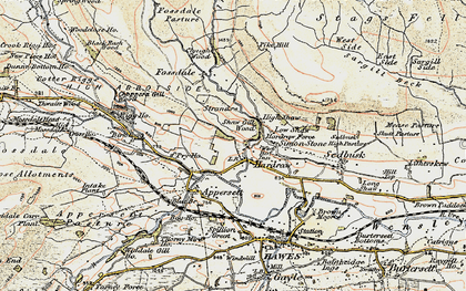 Old map of Hardraw in 1903-1904