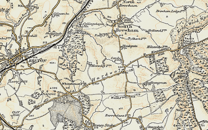 Old map of Leland Trail in 1897-1899