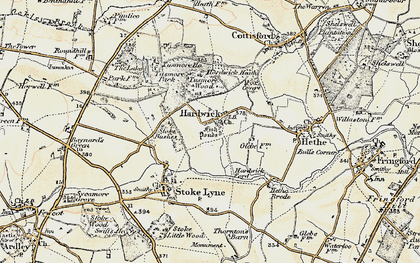 Old map of Lime Kiln Hovel in 1898-1899