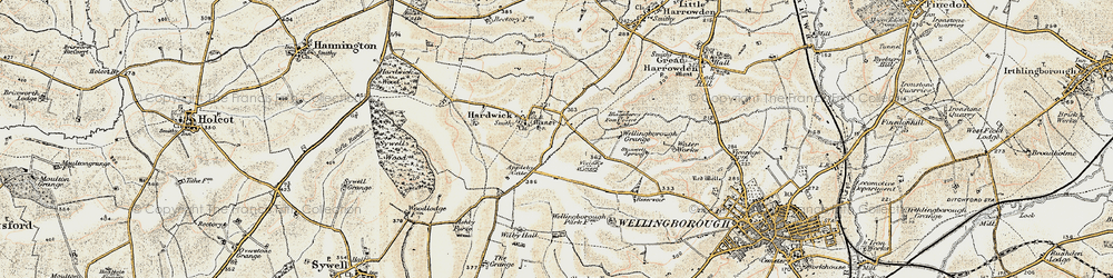Old map of Appleby Gate in 1901