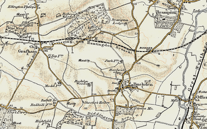 Old map of Hardwick in 1901