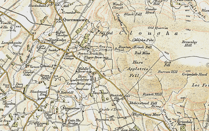 Old map of Windy Clough in 1903-1904