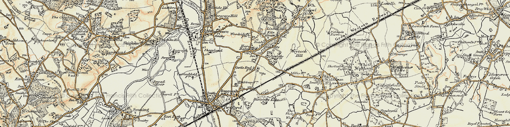 Old map of Hare Hatch in 1897-1909
