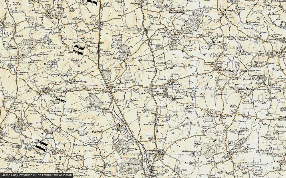 Old Map of Hare Street, 1898-1899 in 1898-1899