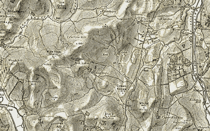 Old map of Wide Hope Shank in 1903-1904