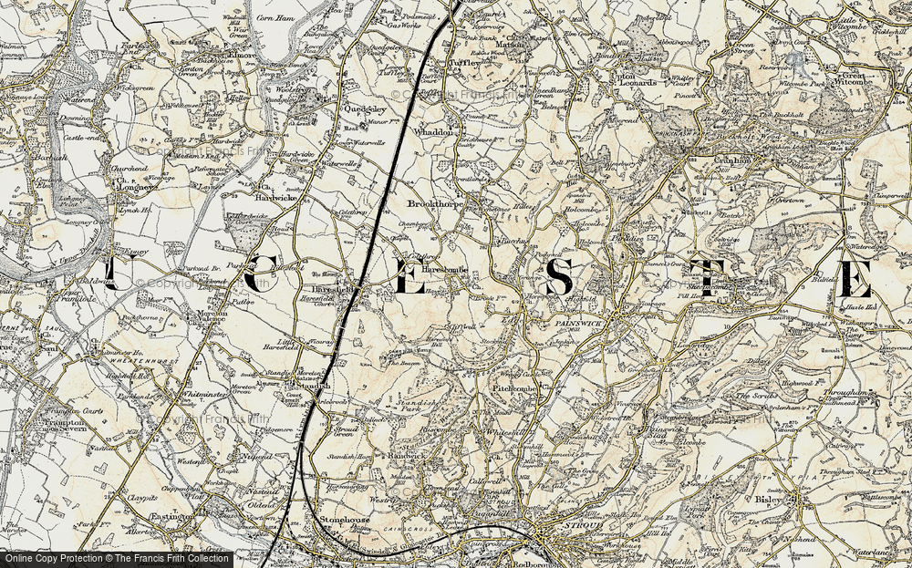 Old Map of Harescombe, 1898-1900 in 1898-1900