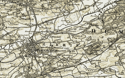 Old map of Tintock in 1904-1907