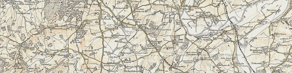 Old map of Windmill Hill in 1899-1900