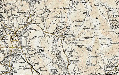 Old map of Harford in 1899-1900