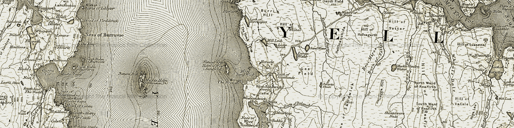 Old map of West Sand Wick in 1912