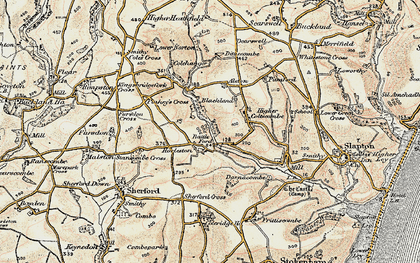 Old map of Alston in 1899