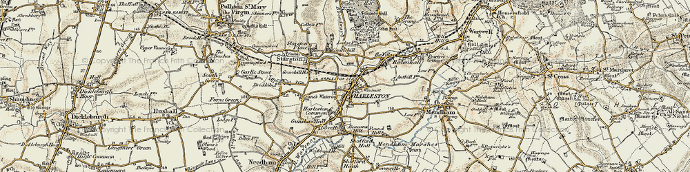 Old map of Anthills in 1901-1902