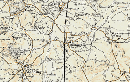Old map of Harlington in 1898-1899