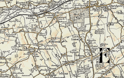 Old map of Harlow in 1898