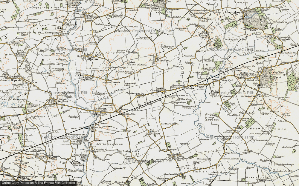 Old Map of Harlthorpe, 1903 in 1903