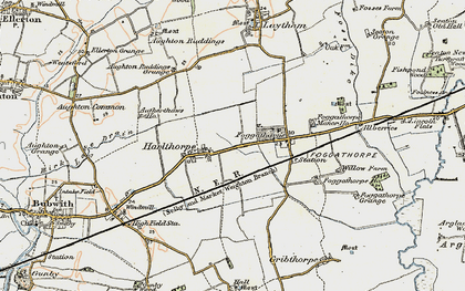 Old map of Aughton Ruddings Grange in 1903